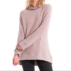 Z Supply | Soft Spun Knit Mauve Mock neck Sweater